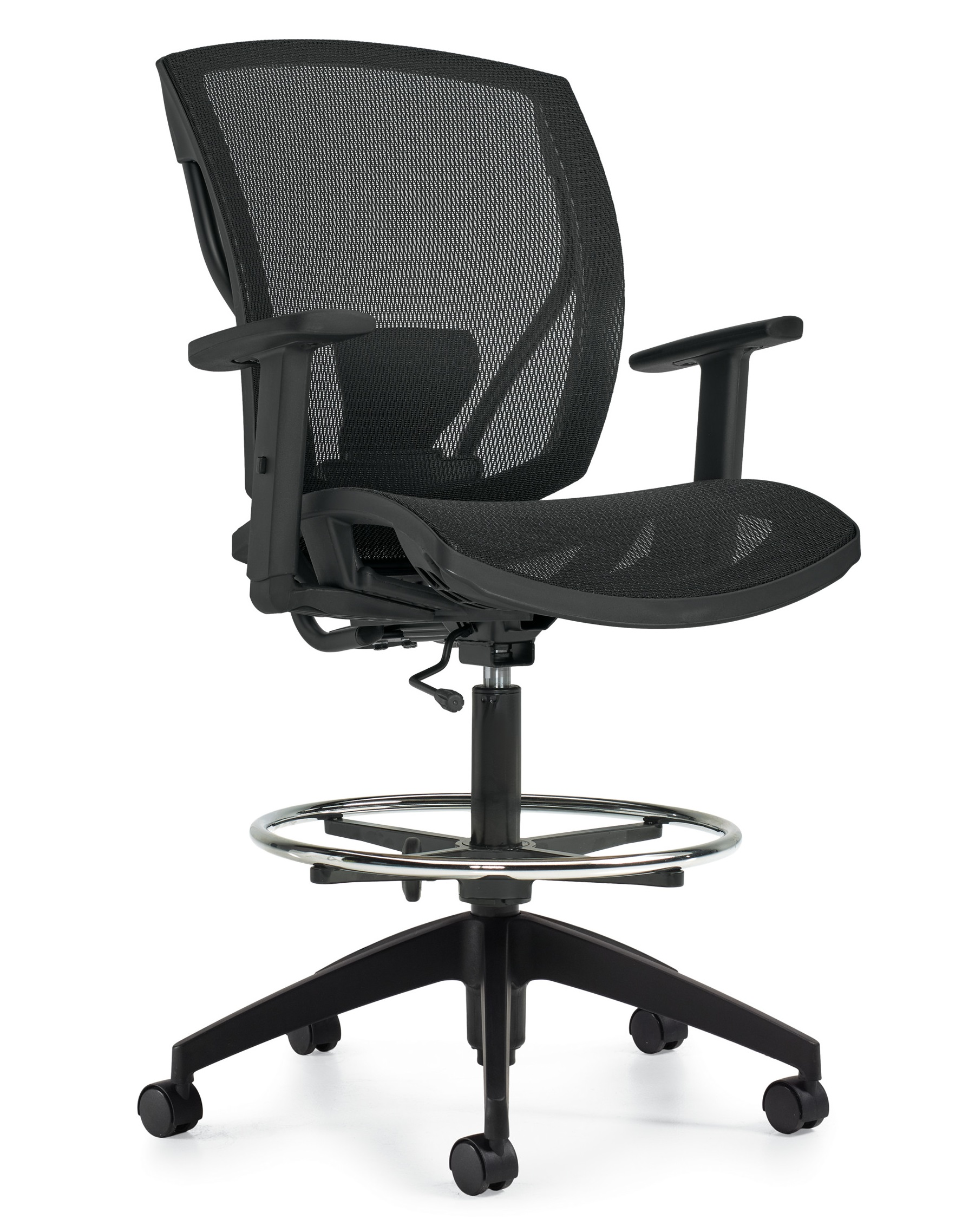 Ibex Mesh Seat And Back Drafting Chair Mvl2828 Newmarket Office Furniture